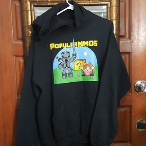 POPULARMMOS Graphic Hoodie-Adult L